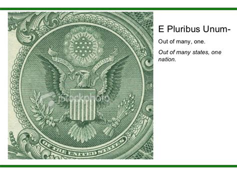 one outs symbols of the dollar bill