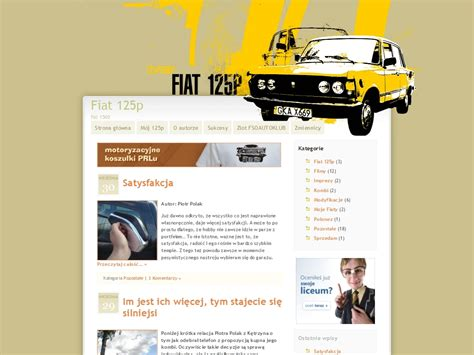 nowy layout nowy layout blog fiata 125p