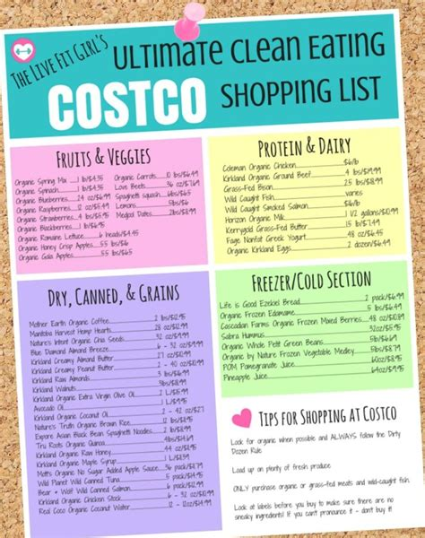 costco shopping list template costco grocery list grocery list template