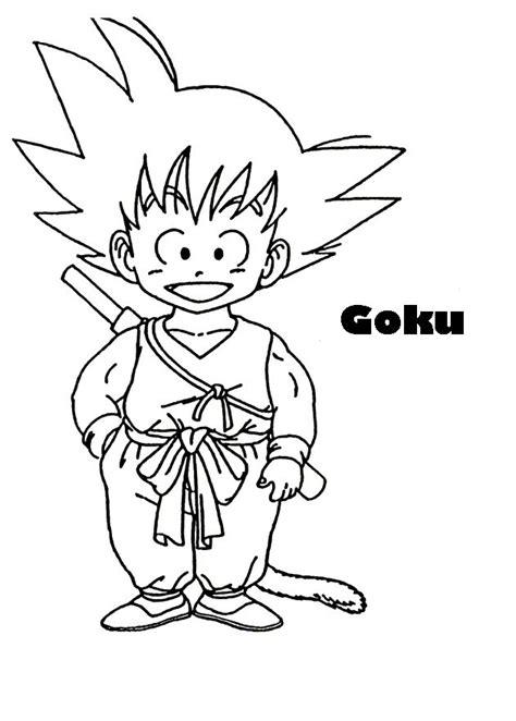 imagenes goku blanco y negro dibujos para colorear de goku