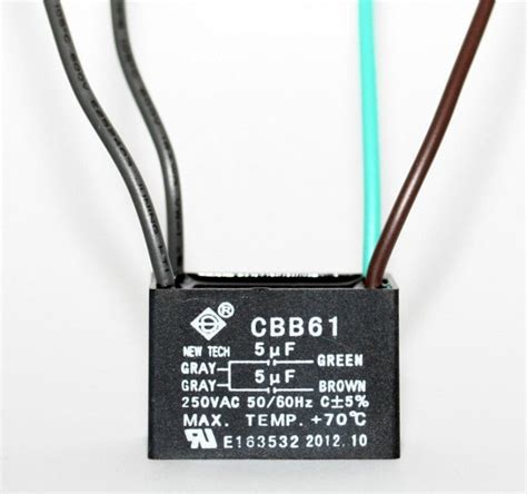 fan capacitor cbb61 ceiling fan capacitor cbb61 5uf 5uf 4 wire ebay