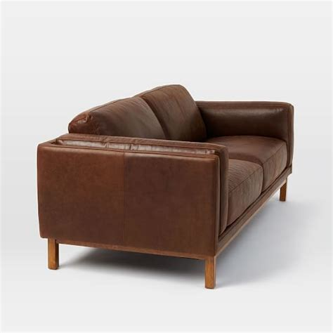 dekalb leather sofa 85 quot west elm