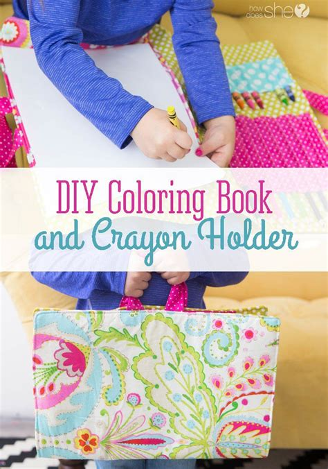 diy coloring book diy coloring book and crayon holder a sewing machine a