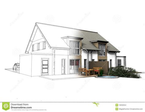 3d house plan with the implementation of 3d max modern 3d house stock illustration image of environment gable
