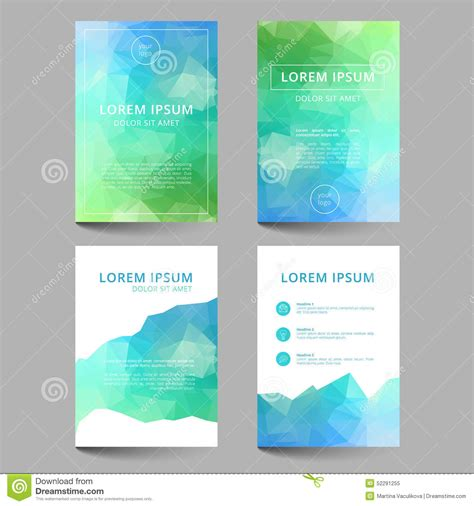 document layout design templates document template low poly design stock illustration
