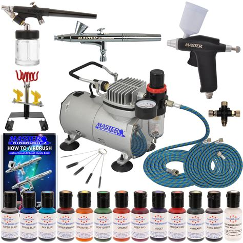 deluxe 3 airbrush cake decorating kit air compressor 12