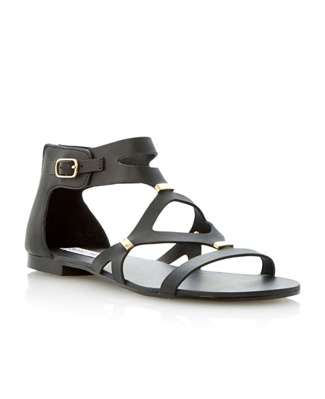 gladiator strappy flat sandals steve madden comma leather strappy gladiator flat sandals