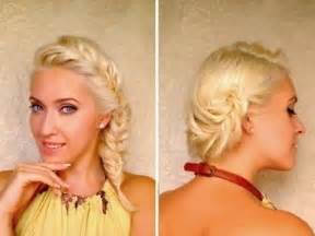 French fishtail braided hairstyle for medium hair via