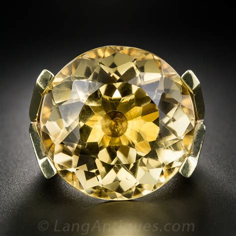colossal citrine ring antique vintage gemstone rings