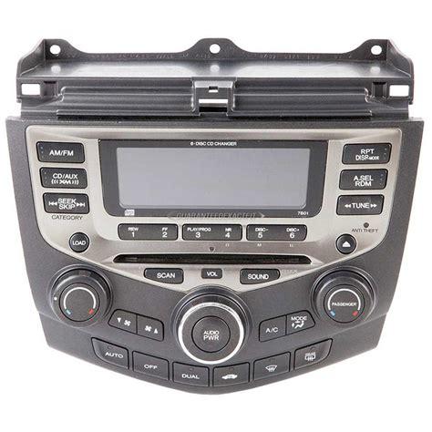 radio code 2006 honda accord 2006 honda accord radio or cd player am fm xm aux 6cd