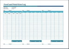 sales log food nutrition and log templates word