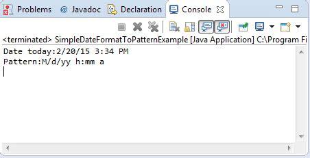format date using simpledateformat java java simpledateformat topattern method exle