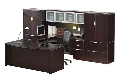 espresso u shaped desk espresso executive desk set u shaped desk with bow front