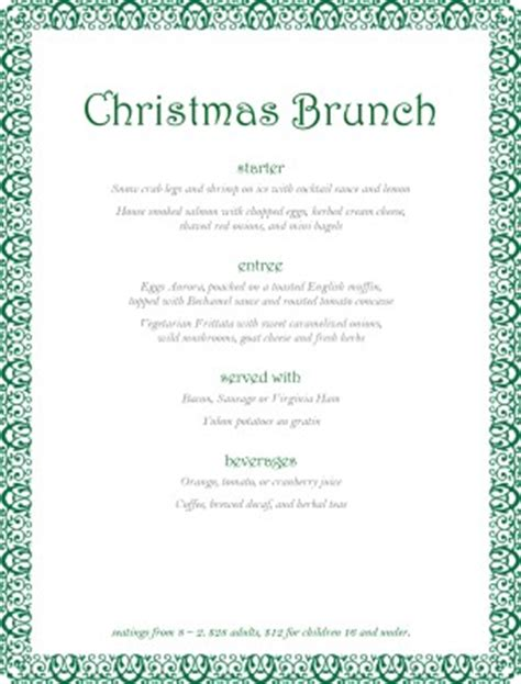 christmas party buffet menu christmas menus