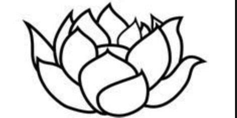 Lotus Black And White Outline by Lotus Flower Outline Free Clip Free Clip On Clipart Library