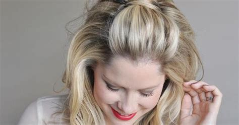 poof at the crown hairstyle 3 easy holiday hairstyles retro style and adele