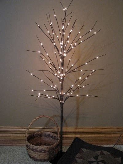 willow twig lighted tree decorate pinterest