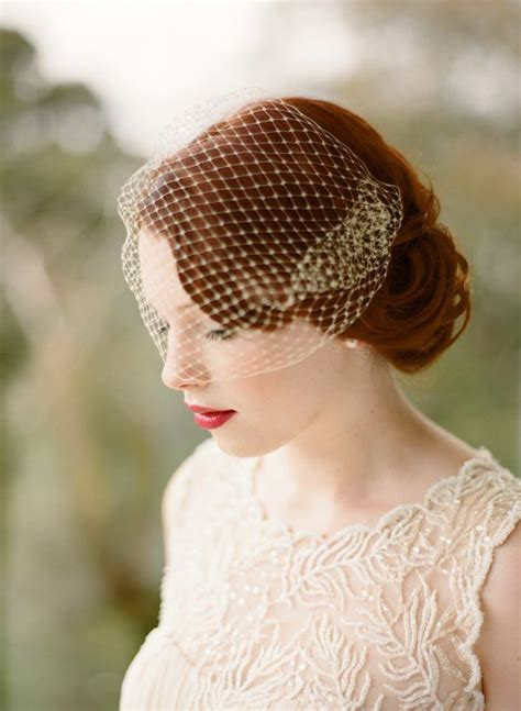 Handmade Birdcage Veil - beautiful birdcage veil etsy deco meets handmade