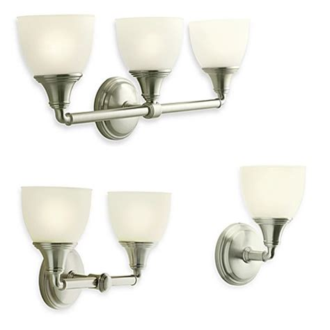 Kohler Devonshire Bathroom Lighting Kohler 174 Devonshire Wall Sconces Bed Bath Beyond