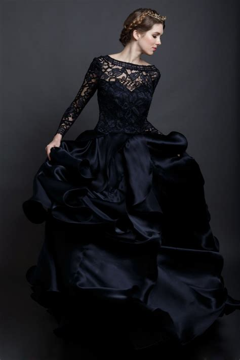 Black Dress For Wedding by Black Lace Wedding Dress Dresscab