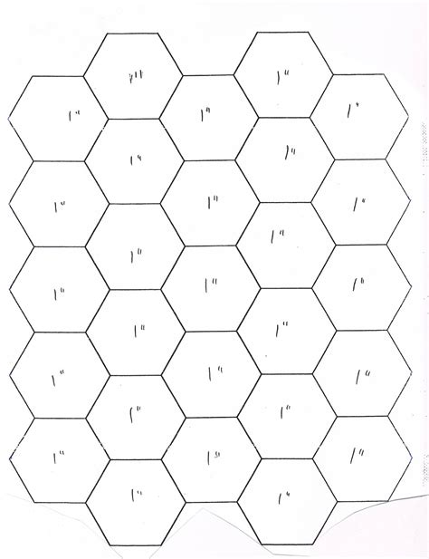 Paper Hexagon Templates For Patchwork - free pdf for 1 inch 3 4 inch 1 2 inch faeries and fibres