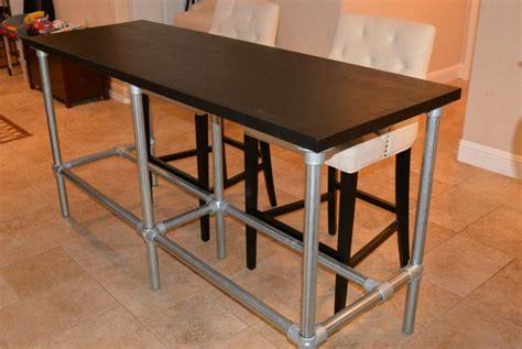 diy console table legs diy counter height table with pipe legs bar height console table sosfund