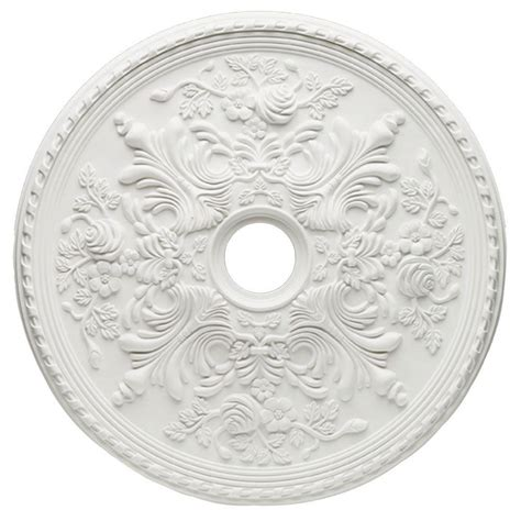 Ceiling Rosettes Home Depot by Westinghouse Cape May 28 In White Ceiling Medallion