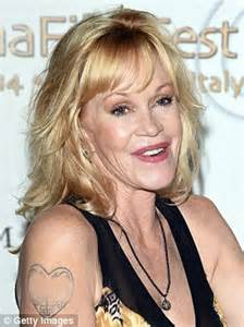 melanie griffith seen leaving tattoo removal office