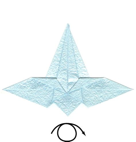 Origami Flying Crane - how to make a flying origami crane page 6