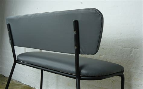waiting room benches pair of small 1950s metal waiting room benches