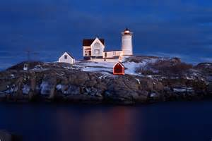 nubble lighthouse lights nubble at york maine robert m ring photography