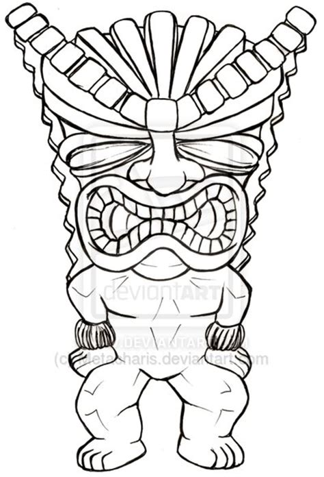 tiki man tattoo designs tiki by metacharis on deviantart