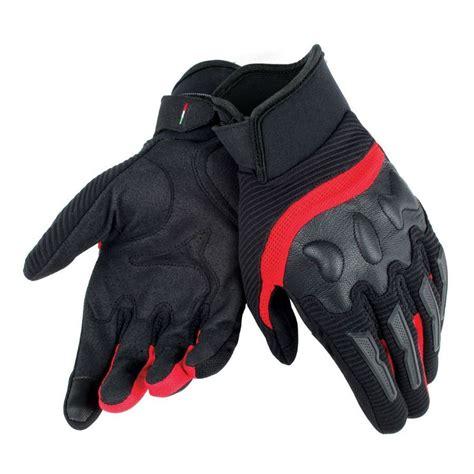 dainese air frame yazlik motosiklet eldiveni siyah kirmizi