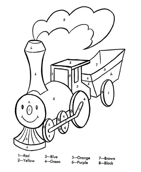 color by number coloring pages easy easy color by number coloring home