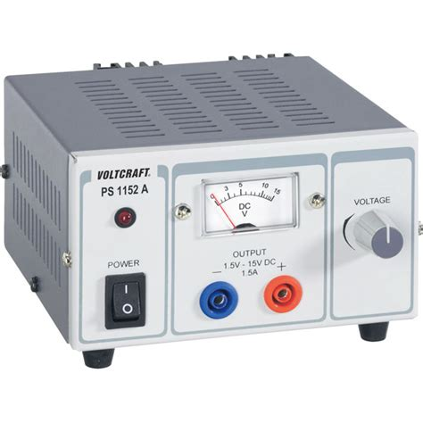 bench power supply variable voltcraft ps 1152a 22 5w 1 5a single output variable dc