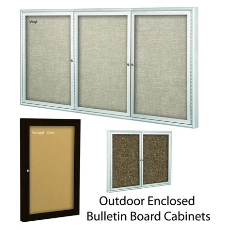 dry erase board cabinet outdoor enclosed bulletin board cabinets