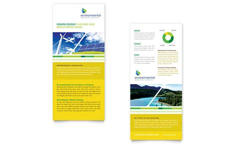 Environmental Conservation Rack Card Template Word Publisher Rack Card Template Word