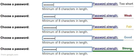 perfect pattern password password strength meter design pattern