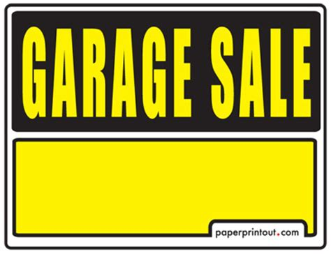 garage sale signs cliparts co