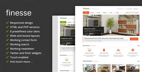 themeforest business theme finesse responsive business themeforest html template
