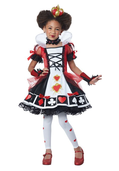 child deluxe queen  hearts costume