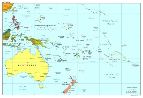 australia and oceania map maps of australia and oceania and oceanian countries