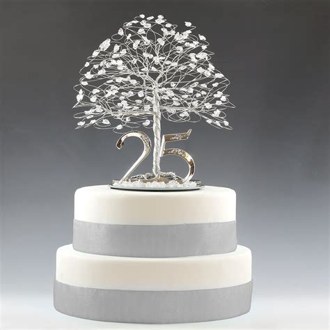 25th Wedding Anniversary Ideas Uk by 25th Anniversary Cake Topper Gift Decoration Birthday Idea