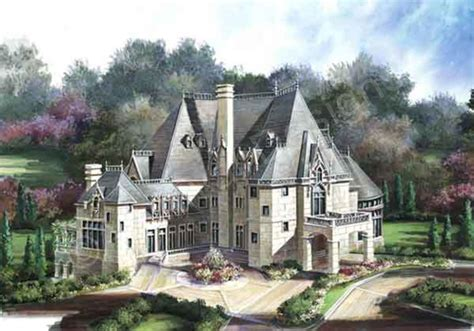 chateau style house plans chateau novella luxury house plan small castle plan