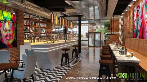 bar restaurant 3d interior design architizer