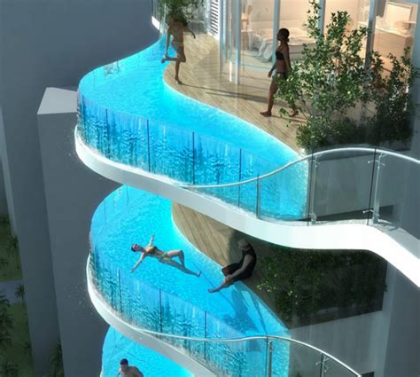 glass bottom pool limewedge net aquaria grande tower replaces balconies with glass pools