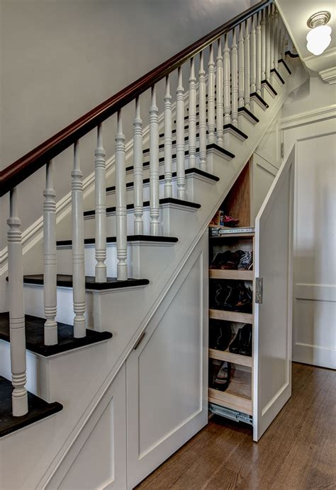 staircase storage how to use the space under stairs as storage interior