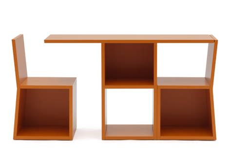 bookshelf table and chairs trick by adachi design