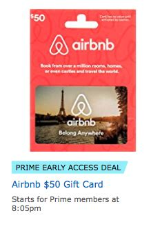 Amazon Discounted Gift Cards - amazon discounted airbnb gift cards today