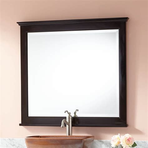 espresso mirrors bathroom keller mahogany vanity mirror dark espresso bathroom